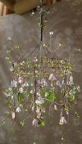 Wire Chandelier Diy A Dainty Pink Sunshower Chandelier Chandeliers Fairy And Whimsical