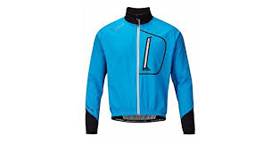 cycling jacket blue polaris am enduro softshell windproof cycling jacket blue black