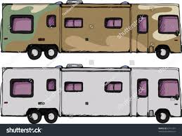 long generic recreational vehicle isolated over stock vector