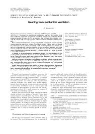 ventilator weaning protocol weaning from mechanical ventilation pdf download available