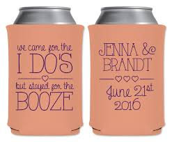 wedding can koozies we came for the i do s 1a custom coolers wedding favors that