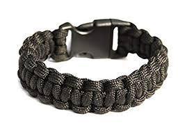 black survival bracelet images Para cord survival bracelet quot black quot 8 inch camping jpg