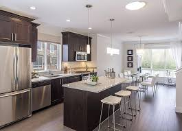 one wall kitchen layout with island traditional kitchen with flush flat panel cabinets gas range