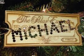 polar express ticket personalized ornament