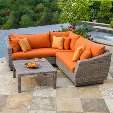 Plastic Feet For Outdoor Furniture by Furniture Entrancing Sectional Sofa For Outdoor Hand Woven