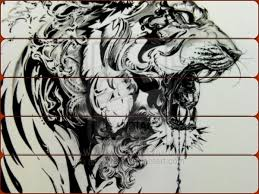 grey ink tiger scream tattoo photos pictures and sketches
