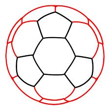 drawing a cartoon soccer ball