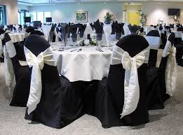 Wedding Linens Dining Room Black Pinwheel Table Linen With White Chair Covers