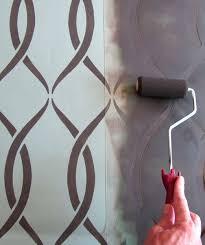interessante wand streichtechnik mit schablone für moderne - Schablone Wandgestaltung