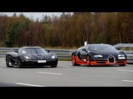 bugatti vs 4k 50 350 km h race bugatti veyron vitesse vs koenigsegg agera r