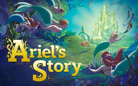 reading ariel mermaid story book disney princess