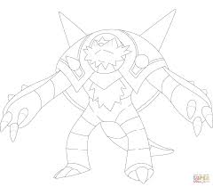 chesnaught coloring page free printable coloring pages