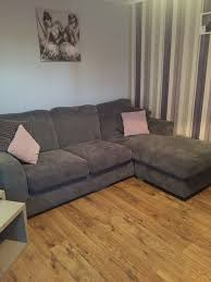 Scs Leather Corner Sofa by Grey Corner Sofa And Cuddle Chair With Purple Cushions Excellent
