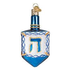 glass dreidel hanukkah gift store