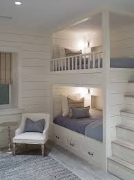 Built In Bunk Bed Ideas Kids Beach Style With Nautical Wall - Kids built in bunk beds