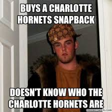 Charlotte Meme - a charlotte hornets snapback