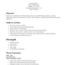 bartender resume template resume for bartending free bartender resume templates merry