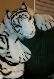 large fake fur tiger skin rug faux white tiger rug carpet throw w