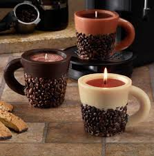 coffee bean candle pack of 6 scented coffee bean mug novelty candles