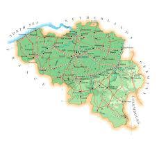 physical map of belgium physical map of belgium