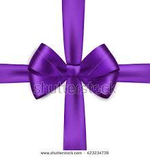 purple satin ribbon shiny purple satin ribbon on white stock vector 419270017