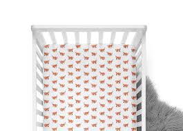 fitted crib sheet orange fox orange crib sheet fox crib