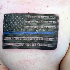 men chest nice thin blue line tattoo golfian com