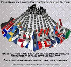 European Flags Images Paul Stanley Ibanez Flag Guitars Paul Stanley