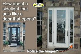 front doors with side lights a single front door with a sidelight that opens the glass door store