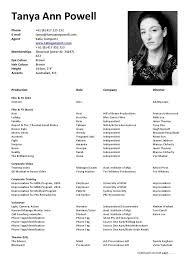 actor resume template actor resume sle starua xyz