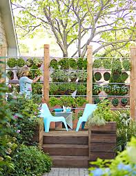 how to build a wall of potted herbs midwest living