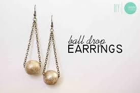 diy drop earrings diy gilded drop earrings minted strawberry