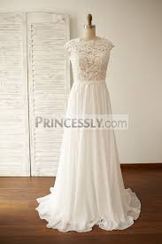 chiffon wedding dress vintage v back lace chiffon wedding dress