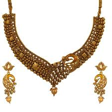 wedding gold sets buy south indian stylish gold plated necklace earrings