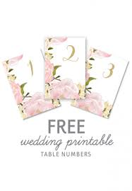 wedding table numbers template diy table number templates for wedding clublifeglobal com