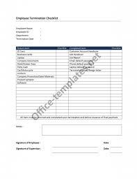 Letter Of Employment Termination by Termination Checklist Jpg