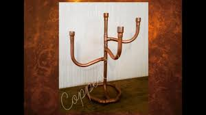 rose gold copper pipe candelabra candle holder luxury home decor