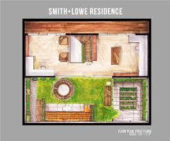 Hand Rendered Floor Plan Smith Lowe Residence U2014 Mary Gacho