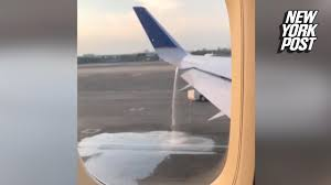 united flight almost took off with jet fuel gushing out new york