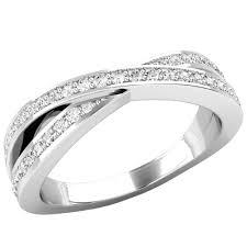 white gold eternity ring cross style diamond set wedding eternity ring in 18ct white