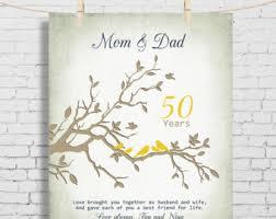 golden anniversary gift ideas 50th anniversary gift for parents 50th golden anniversary