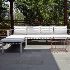 Modern Outdoor Sofa Jibe Modern Outdoor Sectional Sofa Left Corner Of The World
