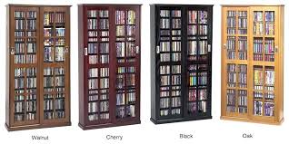 Storage Cabinets Glass Doors Cd Cabinet With Doors Allegro Cd Dvd Vhs Storage Cabinet With