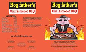 take out menu hog fathers