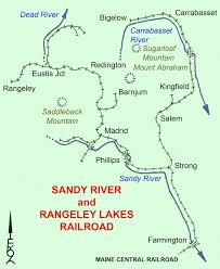 new england central railroad map sandy river and rangeley lakes railroad wikiwand