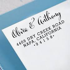 custom return address stamp self inking address stamp