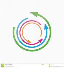 vector logo design element arrow pointer circle stock vector