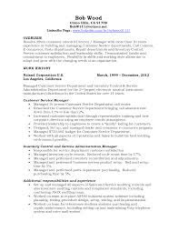 Car Sales Resume Customer Service Manager Resume Resume Template And Professional