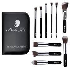 designer beauty makeup brush set malika jafrin 10 piece
