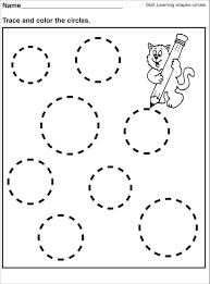 Preschool Handwriting Worksheets Tracing Circle Worksheets For Preschool Activity Shelter Kids
